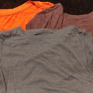 Heathered shirt set